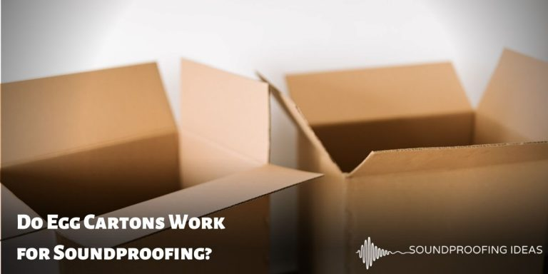 Soundproofing using cardboard